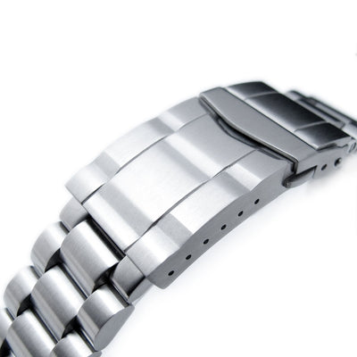 21.5mm Endmill 316L Stainless Steel Watch Bracelet for Seiko Tuna, SUB Clasp Brushed - Strapcode