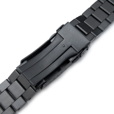 21.5mm Endmill 316L Stainless Steel Watch Bracelet for Seiko Tuna, Submariner PVD Black