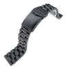 21.5mm Endmill 316L Stainless Steel Watch Bracelet for Seiko Tuna, V-Clasp PVD Black