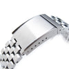 21.5mm Super Engineer II Solid Stainless Steel Watch Band for Seiko Tuna, OME Seatbelt Clasp Brushed