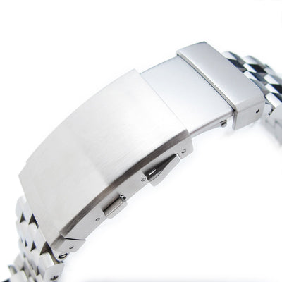 21.5mm Super Engineer II Solid SS Metal Watch Bracelet for Seiko Tuna, Ratchet Brushed