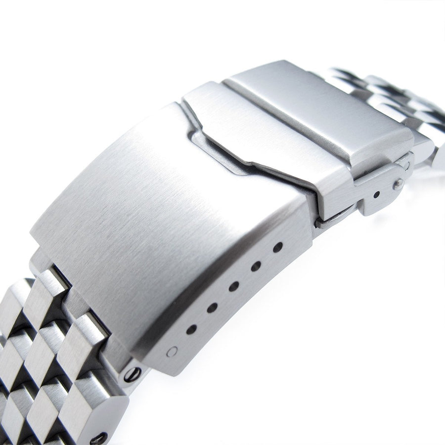 21.5mm Super Engineer II Solid Watch Bracelet for Seiko Tuna, Button Chamfer, Brushed