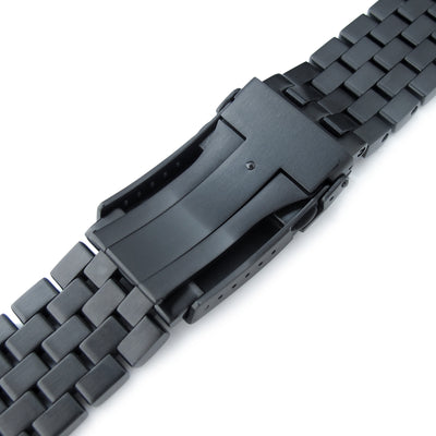 21.5mm Super Engineer I 316L Stainless Steel Watch Bracelet for Seiko Tuna, V-Clasp PVD Black