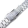 22mm Endmill 316L SS Watch Bracelet for Orient Mako II & Ray II Diver Clasp Brushed