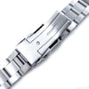 22mm Super Oyster 316L Stainless Steel Watch Bracelet for Orient Mako II & Ray II, Brushed