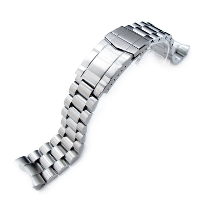 22mm Solid 316L Stainless Steel Endmill Watch Bracelet for SEIKO Diver SKX007/009/011, Solid SUB Clasp