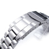 22mm Solid 316L Stainless Steel Endmill Watch Bracelet for SEIKO Diver SKX007/009/011, Solid Submariner Clasp