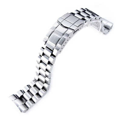 22mm Endmill Watch Bracelet for Seiko New Turtles SRP777 & SRPA21, SUB Clasp Brushed