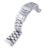 22mm Endmill 316L Stainless Steel Watch Bracelet for Orient Mako II , Ray II, SUB Clasp Brushed - Strapcode