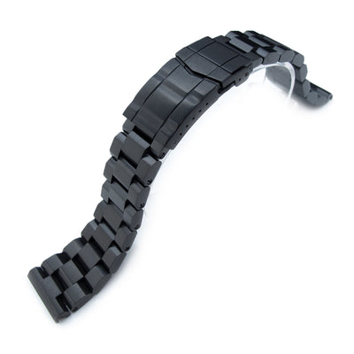 22mm Hexad 316L Stainless Steel Watch Band Straight Lug, SUB Clasp, PVD Black