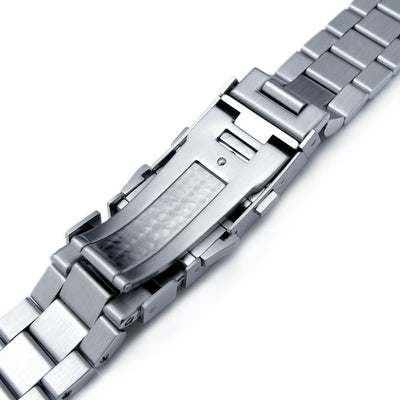 22mm Endmill 316L Stainless Steel Watch Bracelet for Seiko New Turtles SRP777 & PADI SRPA21, Wetsuit Ratchet Buckle Brushed