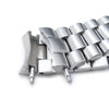 22mm Solid 316L Stainless Steel Endmill Watch Bracelet for SEIKO SKX007, Button Chamfer