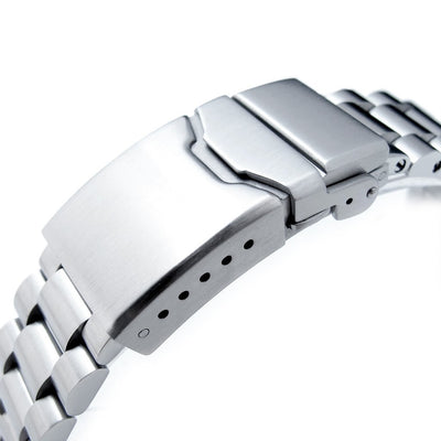 22mm Endmill 316L Stainless Steel Watch Bracelet for Seiko New Turtles SRP777 & PADI SRPA21, Button Chamfer Clasp Brushed