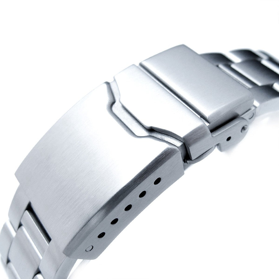 22mm Super Oyster 316L Stainless Steel Watch Band for Orient Mako II & Ray II, Chamfer Clasp