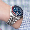 22mm ANGUS Jubilee 316L Stainless Steel Watch Bracelet for Seiko New Turtles SRP777, Brushed, Button Chamfer