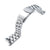 22mm Endmill 316L Stainless Steel Watch Bracelet for Seiko 5, Brushed V-Clasp