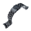 Super Engineer II watch band for SEIKO Diver SKX007/009/011, PVD Black, Diver Clasp