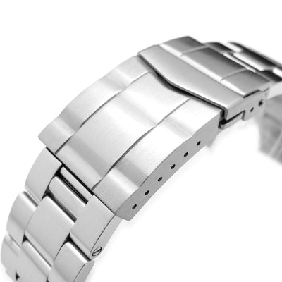 22mm Stainless Steel Super Oyster Watch Band for SEIKO Diver 6309-7040, Solid Submariner Clasp