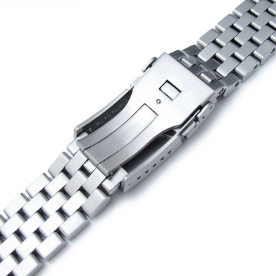 Super Engineer II Watch Bracelet for SEIKO SKX007 SKX009, Brushed, Button Chamfer