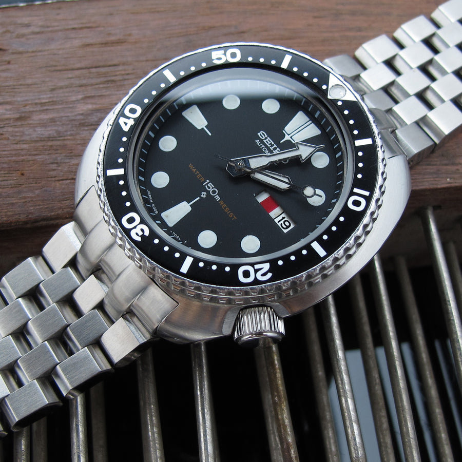 22mm Super Engineer II watch band for SEIKO Diver 6309-7040, Solid Submariner Clasp