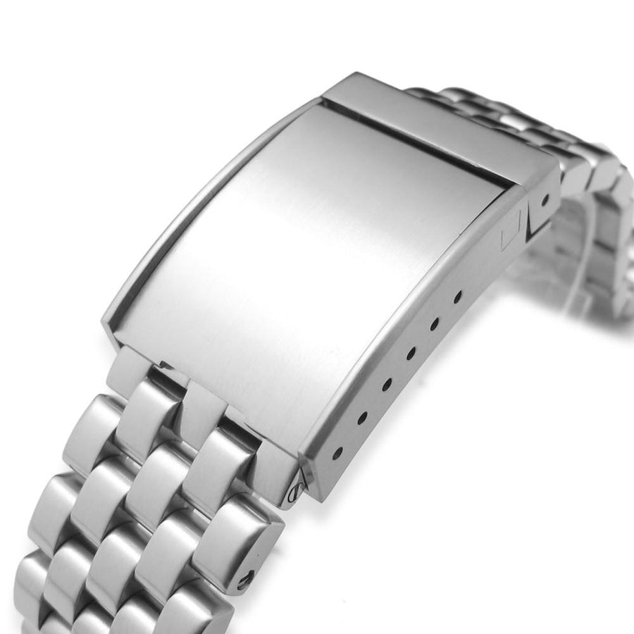 22mm Super Engineer Solid Stainless Steel Watch Band OME Seatbelt Clasp Brushed Finish