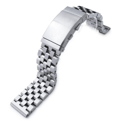 19mm, 20mm, 21mm, 22mm or 23mm Super Engineer II Solid Stainless Steel Watch Bracelet, Brushed, Wetsuit Clasp - Strapcode