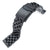 19mm, 20mm, 21mm, 22mm or 23mm Super Engineer II Solid SS Straight End Watch Band, Button Chamfer, PVD Black