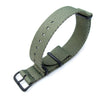 MiLTAT 20mm G10 Military NATO Watch Strap Waffle Nylon Armband PVD Military Green Strapcode Watch Bands