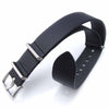 20mm MiLTAT Senno G10 Leather Watch Strap Black Sandblasted Strapcode Watch Bands