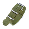 NATO 20mm G10 Military Watch Band Nylon Strap Military Green Sandblasted 260mm Strapcode Watch Bands