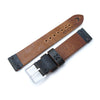 20mm 22mm MiLTAT Horween Chromexcel Watch Strap Blackish Green Grey Stitching Strapcode Watch Bands