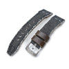 21mm 22mm MiLTAT Black Washed Canvas Watch Strap Rivet Military strap Strapcode Watch Bands