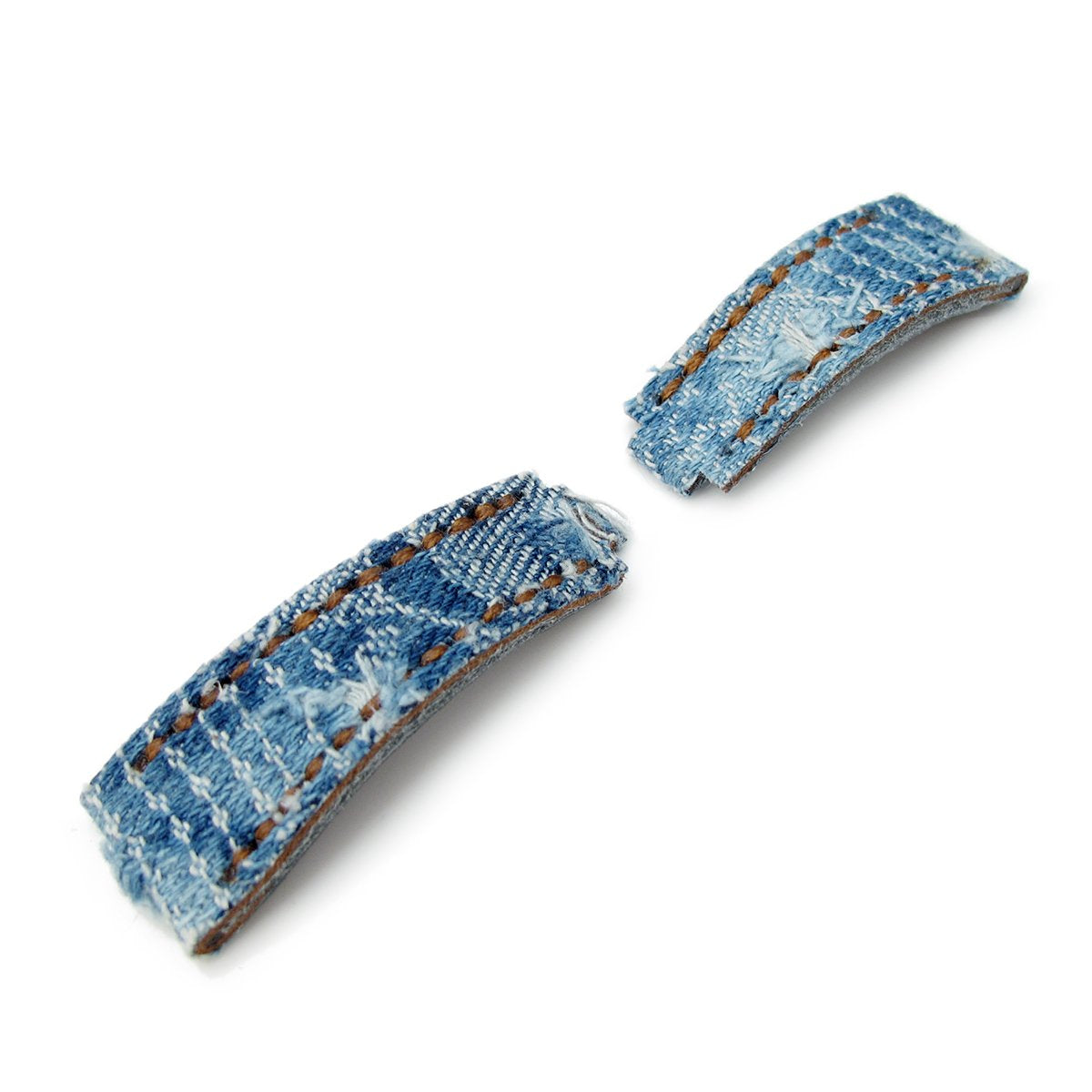 21mm MiLTAT RX Collection 'X' Distressed Denim Replacement Watch Strap Tailor-made for RX SUB & EXP Strapcode Watch Bands