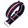 MiLTAT 20mm G10 Military Watch strap ballistic nylon armband Brushed Blue Red Beige Strapcode Watch Bands