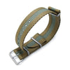 MiLTAT 20mm or 22mm G10 Military NATO Watch Strap Sandwich Nylon Armband Brushed Military Green Strapcode Watch Bands