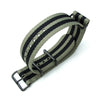 MiLTAT 20mm 21mm 22mm or 24mm G10 NATO Military Watch Strap Ballistic Nylon Armband PVD Black Military Green & Black Strapcode Watch Bands