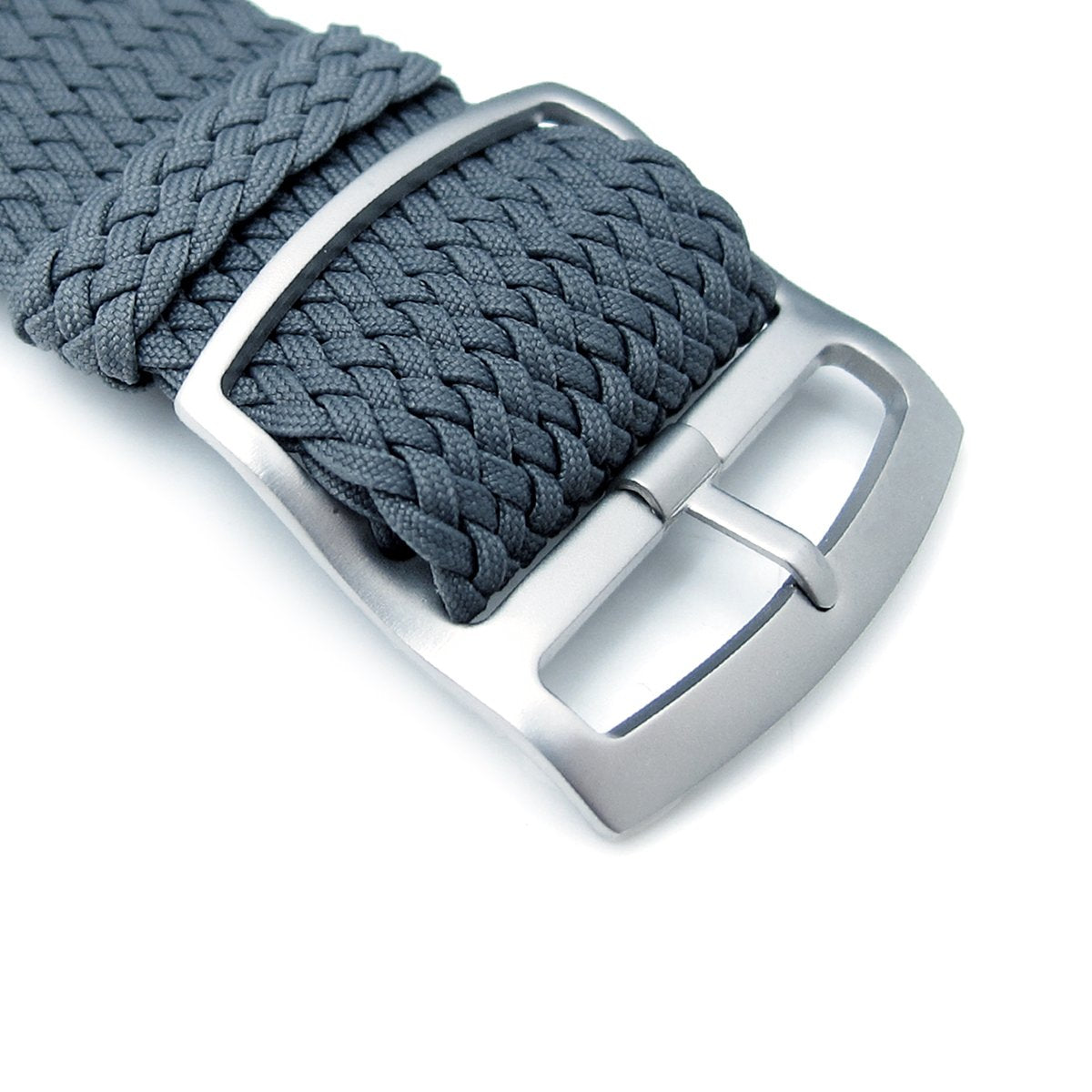 20 22 24mm MiLTAT Perlon Watch Strap Dark Grey Sandblasted Ladder Lock Slider Buckle Strapcode Watch Bands