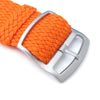 20mm 22mm 23mm 24mm MiLTAT Perlon Watch Strap Orange Sandblasted Ladder Lock Slider Buckle Strapcode Watch Bands