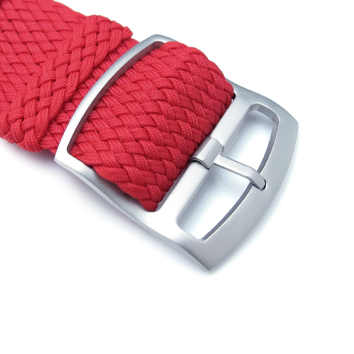 20 22 24mm MiLTAT Perlon Watch Strap Red Sandblasted Ladder Lock Slider Buckle Strapcode Watch Bands