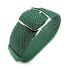 20mm 22mm MiLTAT Perlon Watch Strap Green Polished Ladder Lock Slider Buckle Strapcode Watch Bands