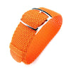20mm 22mm 23mm 24mm MiLTAT Perlon Watch Strap Orange Polished Ladder Lock Slider Buckle Strapcode Watch Bands