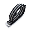 MiLTAT 20mm or 22mm G10 Military Watch Strap Ballistic Nylon Armband Polished Black & Grey Stripes