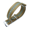 MiLTAT 20mm or 22mm G10 Military NATO Watch Strap Sandwich Nylon Armband Polished Military Green Strapcode Watch Bands