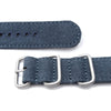 MiLTAT 20mm Washed Canvas Zulu Navy Blue Double Thickness Watch Strap Lockstitch Round Hole Strapcode Watch Bands