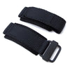 20mm 22mm 24mm MiLTAT Honeycomb Black Nylon Velcro Fastener Watch Strap PVD Black Buckle XL Strapcode Watch Bands
