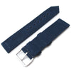 20mm 21mm or 22mm MiLTAT WW2 2-piece Navy Washed Canvas Watch Band with lockstitch round hole Sandblasted Strapcode Watch Bands