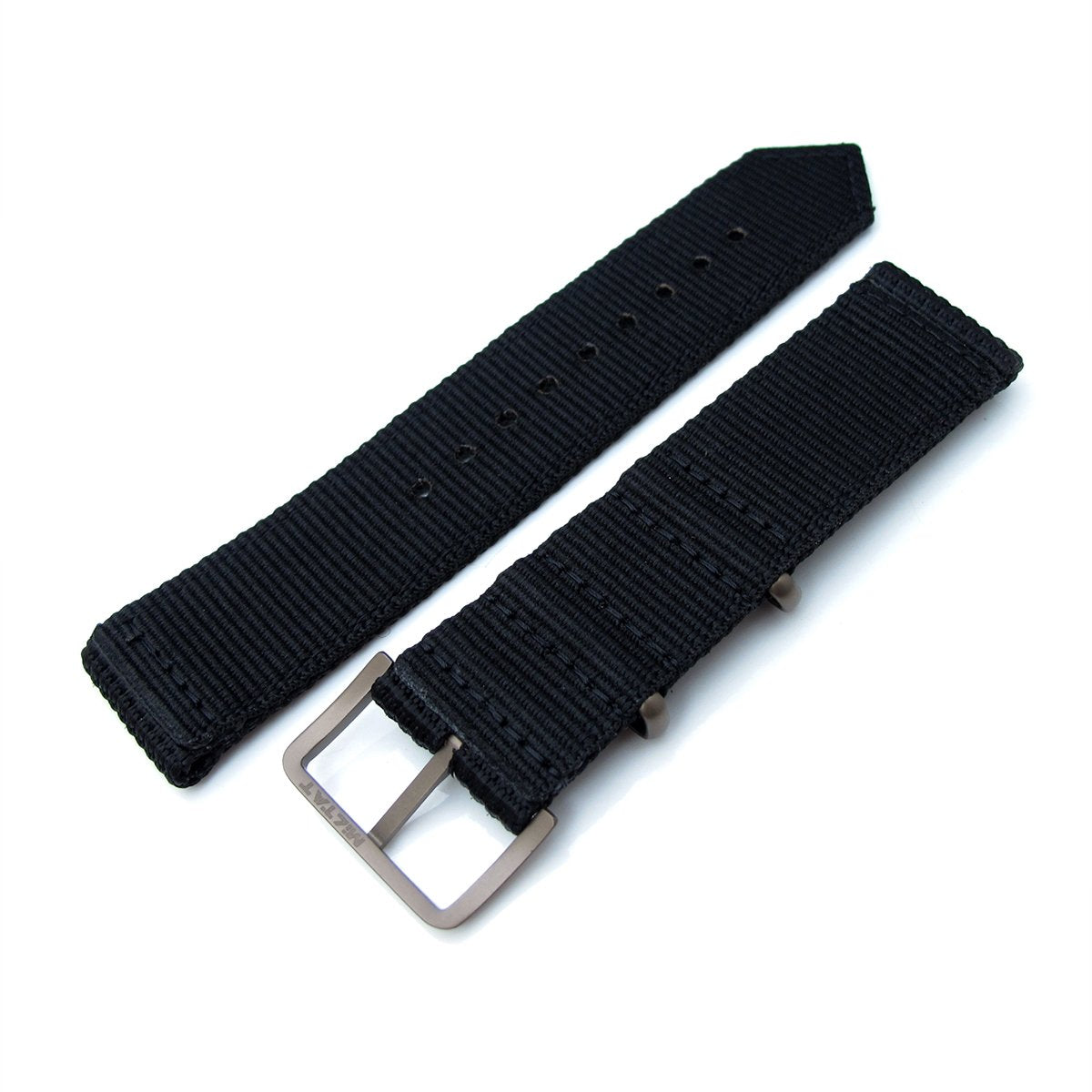 20mm 22mm Two Piece WW2 G10 Black 3D Nylon IP Bronze Buckle Strapcode Watch Bands