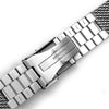 24mm Heavy Stainless Steel Wire Mesh Band with adjustable links Strapcode Watch Bands
