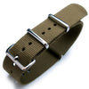 Nato 20mm 21mm 22mm Heat Sealed Heavy Nylon Polished Buckle Green Strapcode Watch Bands