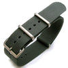 Nato 20mm or 22mm Heat Sealed Heavy Nylon Watch Band Brushed Buckle Grey Strapcode Watch Bands